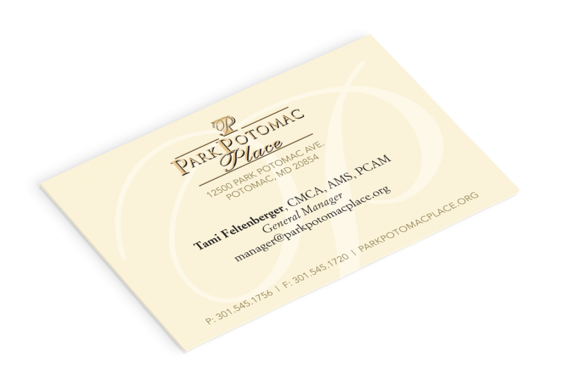 park potomac place business cards  all things creative
